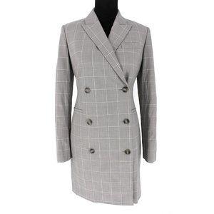 NWT Theory Blazer Dress Cyrus Grid Grey Multi 4